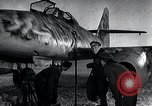 Image of ME-262 aircraft up on maintenance stands Germany, 1943, second 26 stock footage video 65675030710