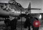 Image of ME-262 aircraft up on maintenance stands Germany, 1943, second 27 stock footage video 65675030710