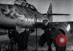 Image of ME-262 aircraft up on maintenance stands Germany, 1943, second 28 stock footage video 65675030710