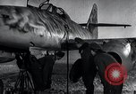 Image of ME-262 aircraft up on maintenance stands Germany, 1943, second 29 stock footage video 65675030710