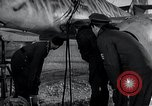 Image of ME-262 aircraft up on maintenance stands Germany, 1943, second 40 stock footage video 65675030710
