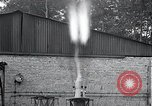 Image of Inverted German rocket engine test Germany, 1942, second 32 stock footage video 65675030732