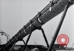 Image of V-1 charger and rocket mount and launch Germany, 1942, second 59 stock footage video 65675030733