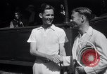 Image of Vines defeats Lott in Men's Singles Tennis Championship match Forest Hills New York USA, 1931, second 15 stock footage video 65675030764