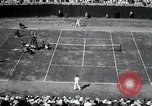 Image of Vines defeats Lott in Men's Singles Tennis Championship match Forest Hills New York USA, 1931, second 48 stock footage video 65675030764