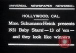Image of Madame Schumann-Heink Hollywood Los Angeles California USA, 1931, second 1 stock footage video 65675030766