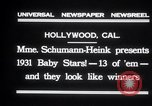 Image of Madame Schumann-Heink Hollywood Los Angeles California USA, 1931, second 5 stock footage video 65675030766