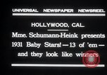 Image of Madame Schumann-Heink Hollywood Los Angeles California USA, 1931, second 7 stock footage video 65675030766