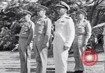 Image of Major General Henry C Pratt receiving Distinguished Service Medal San Juan Puerto Rico, 1943, second 16 stock footage video 65675030840