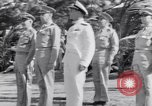 Image of Major General Henry C Pratt receiving Distinguished Service Medal San Juan Puerto Rico, 1943, second 18 stock footage video 65675030840