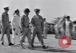 Image of Major General Henry C Pratt receiving Distinguished Service Medal San Juan Puerto Rico, 1943, second 24 stock footage video 65675030840