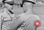 Image of Major General Henry C Pratt receiving Distinguished Service Medal San Juan Puerto Rico, 1943, second 46 stock footage video 65675030840