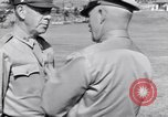 Image of Major General Henry C Pratt receiving Distinguished Service Medal San Juan Puerto Rico, 1943, second 50 stock footage video 65675030840