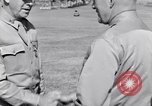 Image of Major General Henry C Pratt receiving Distinguished Service Medal San Juan Puerto Rico, 1943, second 53 stock footage video 65675030840
