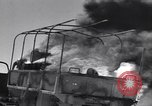 Image of Burning British vehicle North Africa, 1943, second 11 stock footage video 65675030883