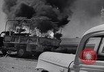 Image of Burning British vehicle North Africa, 1943, second 24 stock footage video 65675030883