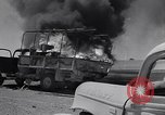 Image of Burning British vehicle North Africa, 1943, second 25 stock footage video 65675030883