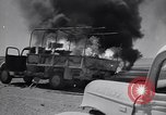 Image of Burning British vehicle North Africa, 1943, second 26 stock footage video 65675030883