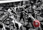 Image of British soldiers doing calisthenics Sicily Italy, 1943, second 23 stock footage video 65675030909