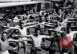 Image of British soldiers doing calisthenics Sicily Italy, 1943, second 24 stock footage video 65675030909