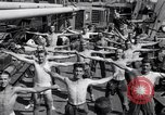 Image of British soldiers doing calisthenics Sicily Italy, 1943, second 26 stock footage video 65675030909
