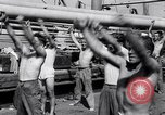 Image of British soldiers doing calisthenics Sicily Italy, 1943, second 29 stock footage video 65675030909