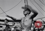 Image of British soldiers doing calisthenics Sicily Italy, 1943, second 37 stock footage video 65675030909
