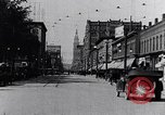 Image of Traffic on streets of Detroit Detroit Michigan USA, 1917, second 18 stock footage video 65675031040