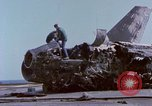 Image of USS Enterprise fire Pearl Harbor Hawaii USA, 1969, second 16 stock footage video 65675031048