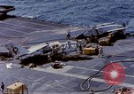 Image of USS Enterprise fire Pearl Harbor Hawaii USA, 1969, second 54 stock footage video 65675031048