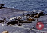 Image of USS Enterprise fire Pearl Harbor Hawaii USA, 1969, second 56 stock footage video 65675031048