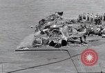 Image of USS Forrestal cleanup after fire Gulf of Tonkin Vietnam, 1967, second 18 stock footage video 65675031061