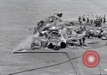 Image of USS Forrestal cleanup after fire Gulf of Tonkin Vietnam, 1967, second 19 stock footage video 65675031061