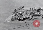 Image of USS Forrestal cleanup after fire Gulf of Tonkin Vietnam, 1967, second 20 stock footage video 65675031061