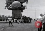 Image of USS Forrestal fire cleanup Gulf of Tonkin Vietnam, 1967, second 39 stock footage video 65675031062