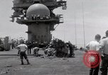 Image of USS Forrestal fire cleanup Gulf of Tonkin Vietnam, 1967, second 40 stock footage video 65675031062
