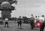 Image of USS Forrestal fire cleanup Gulf of Tonkin Vietnam, 1967, second 41 stock footage video 65675031062