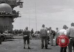 Image of USS Forrestal fire cleanup Gulf of Tonkin Vietnam, 1967, second 45 stock footage video 65675031062