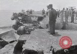 Image of USS Forrestal damage from fire Gulf of Tonkin Vietnam, 1967, second 25 stock footage video 65675031063