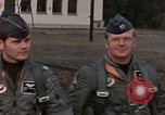 Image of F-4E aircraft and crew prepare and takeoff from Ramstein Air Base Ramstein Germany, 1969, second 1 stock footage video 65675031085