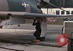 Image of F-4E aircraft and crew prepare and takeoff from Ramstein Air Base Ramstein Germany, 1969, second 9 stock footage video 65675031085
