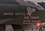 Image of F-4E aircraft and crew prepare and takeoff from Ramstein Air Base Ramstein Germany, 1969, second 25 stock footage video 65675031085