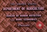 Image of food and nutrition Beltsville Maryland USA, 1948, second 2 stock footage video 65675031181