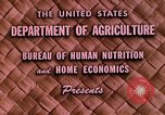 Image of food and nutrition Beltsville Maryland USA, 1948, second 4 stock footage video 65675031181