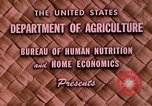Image of food and nutrition Beltsville Maryland USA, 1948, second 7 stock footage video 65675031181