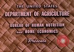 Image of food and nutrition Beltsville Maryland USA, 1948, second 8 stock footage video 65675031181