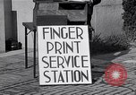 Image of Fingerprint Service Station United States USA, 1936, second 9 stock footage video 65675031190