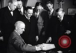 Image of President Truman greets heads of state United States USA, 1948, second 52 stock footage video 65675031323