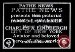 Image of Charles Lindbergh New York United States USA, 1927, second 14 stock footage video 65675031329