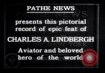 Image of Charles Lindbergh New York United States USA, 1927, second 15 stock footage video 65675031329